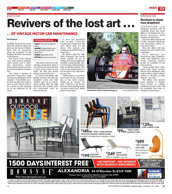 Wentworth Courier Oct Editorial